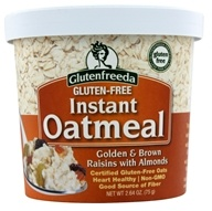 Glutenfreeda - Instant Oatmeal Cup Golden & Brown Raisins with Almonds - 2.64 oz. - $2.09