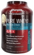 Champion Nutrition - Pure Whey Protein Stack Vanilla Ice Cream - 4.8 lbs., from category: Sports Nutrition