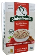 Glutenfreeda - Instant Oatmeal Strawberries & Brown Sugar with Flax 6 Packets - 10.1 oz.