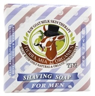 Tierra Mia Organics - Raw Goat Milk Skin Therapy Shaving Soap For Men - 2.2 oz. (736211247346)