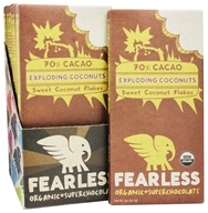 Fearless Chocolate - Organic Superchocolate Bar Exploding Coconuts - 2 oz. by Fearless Chocolate