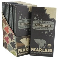 Fearless Chocolate - Organic Superchocolate Bar 75% Cacao Midnight - 2 oz., from category: Health Foods