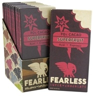 Fearless Chocolate - Organic Superchocolate Bar 70% Cacao Superfruit - 2 oz.