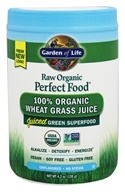 Garden of Life - Perfect Food Raw 100% Organic Wheat Grass Juice Powder Unflavored - 4.2 oz.