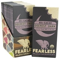 Fearless Chocolate - Organic Superchocolate Bar 85% Cacao Deepest Dark - 2 oz., from category: Health Foods