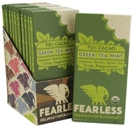 Fearless Chocolate - Organic Superchocolate Bar 70% Cacao Green Tea Mint - 2 oz.