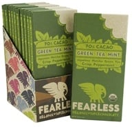 Fearless Chocolate - Organic Superchocolate Bar 70% Cacao Green Tea Mint - 2 oz. by Fearless Chocolate