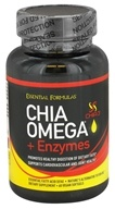 Essential Formulas - Chia Omega + Enzymes - 60 Vegan Softgels, from category: Nutritional Supplements