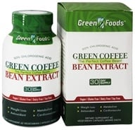 Green Foods - Green Coffee Bean Extract - 60 Vegetarian Capsules - $15.59