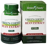 Image of Green Foods - Green Coffee Bean Extract - 60 Vegetarian Capsules