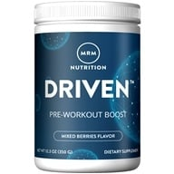 MRM - Driven 100% All Natural Pre-Workout Boost Mixed Berries - 12.3 oz.