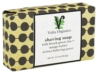 Volta Organics - Shaving Soap Bar with French Green Clay + Mango Butter - 3.3 oz.