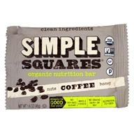 Simple Squares - Organic Gluten-Free Nuts & Honey Snack Bar Coffee - 1.6 oz.