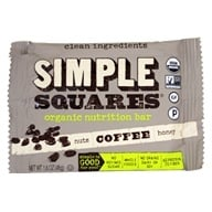Simple Squares - Organic Gluten-Free Nuts & Honey Nutrition Bar Coffee - 1.6 oz.