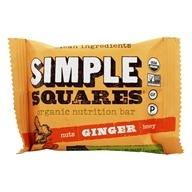 Simple Squares - Organic Gluten-Free Nuts & Honey Snack Bar Ginger - 1.6 oz. (855325002105)