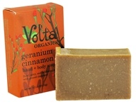 Volta Organics - Hand + Body Soap Bar Geranium + Cinnamon - 3.3 oz. (738435239565)