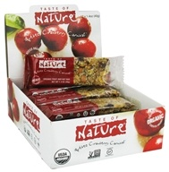 Taste of Nature - Organic Fruit and Nut Bar Quebec Cranberry Carnival - 1.4 oz., from category: Nutritional Bars