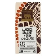 Endangered Species - Dark Chocolate Bar with Sea Salt & Almonds 72% Cocao - 3 oz. by Endangered Species