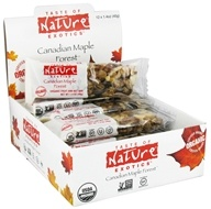 Taste of Nature - Organic Fruit and Nut Bar Canadian Maple Forest - 1.4 oz. by Taste of Nature