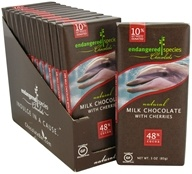 Endangered Species - Milk Chocolate Bar with Cherries 48% Cocoa - 3 oz. by Endangered Species