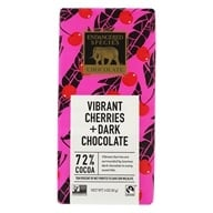 Endangered Species - Dark Chocolate Bar with Cherries 72% Cocoa - 3 oz. by Endangered Species