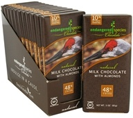 Endangered Species - Milk Chocolate Bar with Almonds 48% Cocoa - 3 oz. (037014242492)