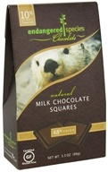 Image of Endangered Species - Milk Chocolate Squares Bite Size Bars 48% Cocoa - 10 Piece(s)