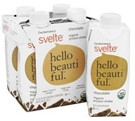 Cal Naturale - Svelte Organic Protein Shake 4 x 11 oz. RTD Chocolate - 4 Pack, from category: Sports Nutrition