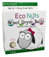 Eco Nuts - Natural Wool Dryer Balls - 4 Ball(s), from category: Housewares & Cleaning Aids