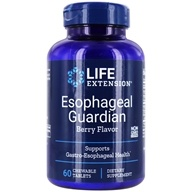 Life Extension - Esophageal Guardian Natural Berry Flavor - 60 Chewable Tablets (737870173762)