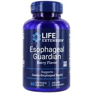 Life Extension - Esophageal Guardian Natural Berry Flavor - 60 Chewable Tablets - $27