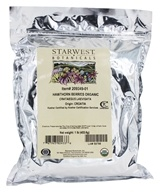 Starwest Botanicals - Bulk Hawthorn Berries Whole Organic - 1 lb. (767963024336)