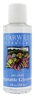 Starwest Botanicals - Vegetable Glycerine 100% Pure - 4 oz. - $5.26