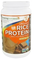 Growing Naturals - Organic Rice Protein Chocolate Power - 33.6 oz. by Growing Naturals