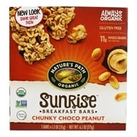 Image of Nature's Path Organic - Chewy Granola Bars Chunky Chocolate Peanut - 5 Bars