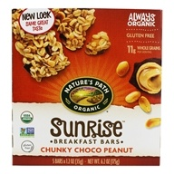 Nature's Path Organic - Chewy Granola Bars Chunky Chocolate Peanut - 5 Bars, from category: Health Foods