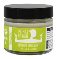 Primal Pit Paste - Natural Deodorant Jar Lemongrass - 2 oz.