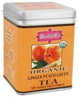 Brew La La - Organic Green Tea Ginger Peach - 50 Tea Bags by Brew La La