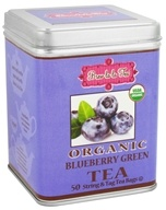 Brew La La - Organic Green Tea Blueberry - 50 Tea Bags by Brew La La