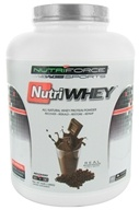 NutriForce Sports - NutriWhey All Natural Whey Protein Powder Belgian Chocolate - 4 lbs. by NutriForce Sports