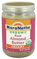 Image of MaraNatha - Organic Raw Almond Butter Creamy - 16 oz.