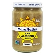 Image of MaraNatha - Raw Almond Butter Creamy All Natural - 16 oz.