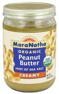 MaraNatha - Organic Peanut Butter Hint of Sea Salt Creamy - 16 oz., from category: Health Foods