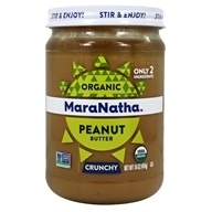 MaraNatha - Organic Roasted Peanut Butter Hint of Sea Salt Crunchy - 16 oz. (051651092333)