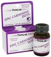 Twinlab - Zinc Carnosine Dots Tropical Fruit Flavor - 100 Tablets by Twinlab