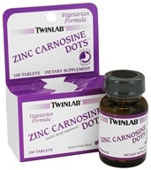 Image of Twinlab - Zinc Carnosine Dots Tropical Fruit Flavor - 100 Tablets