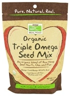 Image of NOW Foods - Real Food Organic Triple Omega Seed Mix - 12 oz.