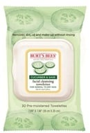 Image of Burt's Bees - Facial Cleansing Towelettes Cucumber & Sage - 30 Towelette(s)
