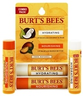 Burt's Bees - Lip Balm Combo Pack Hydrating Coconut & Pear + Nourishing Mango Butter - 2 x .15 oz. Tubes LUCKY DEAL by Burt's Bees