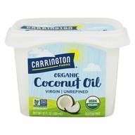 Image of Carrington Farms - 100% Organic Pure Unrefined Cold Pressed Extra Virgin Coconut Oil - 12 oz.